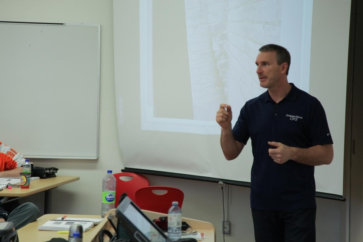 Teaching home inspection class