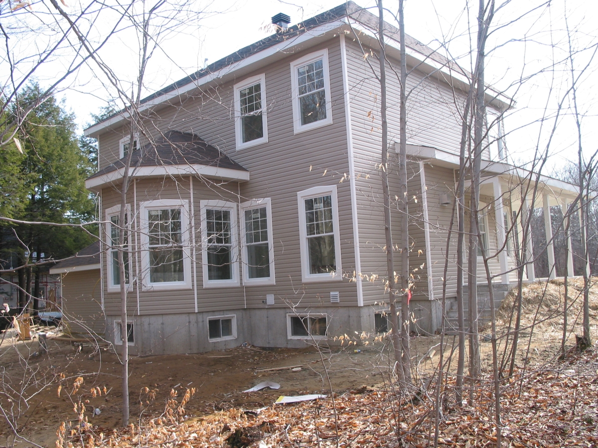 Home Inspection; Rear of house